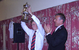 Matthew Tilt &amp; Alec Stewart celebrate winning Div. 3 in 2007