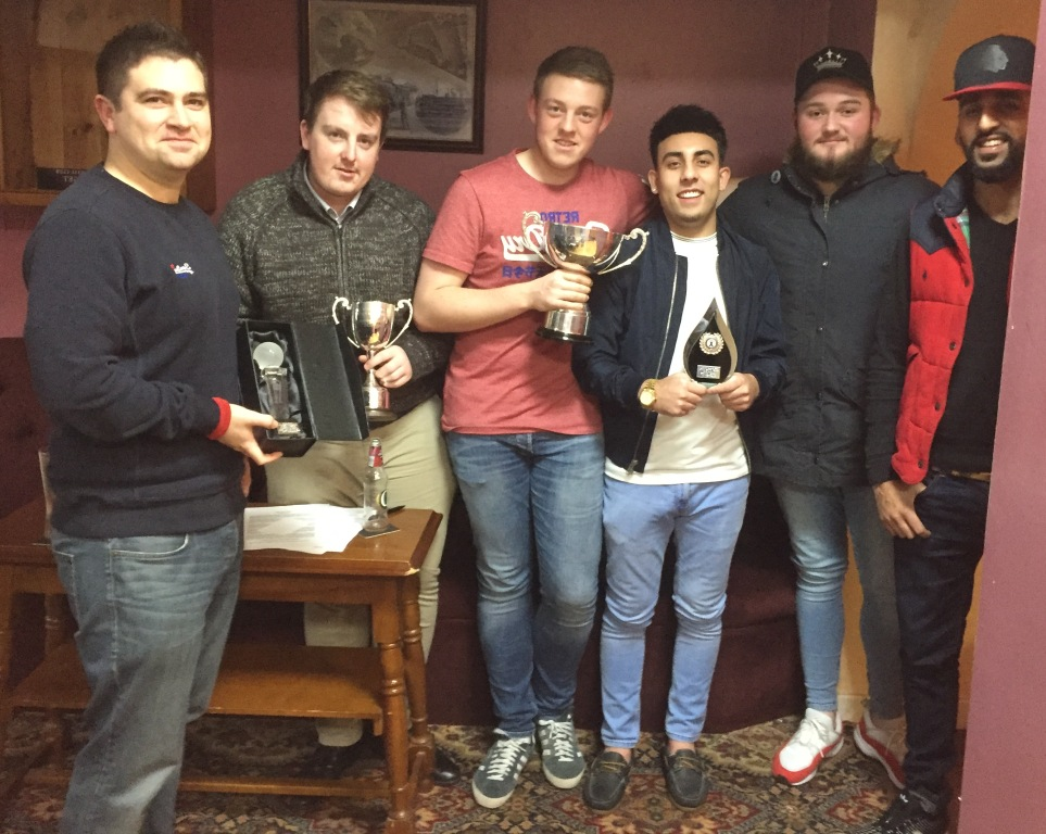 St.Georges CC players at the recent SCCL annual presentations. Our second and third teams both convincingly won their respective leagues. Matt Conniffe was named by the league as divisional player of the year.