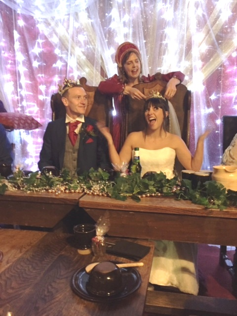 ben and tash at their wedding banquet on sat 30th september